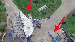 «Star Wars 7»: le Faucon Millenium repéré sur le tournage avec un