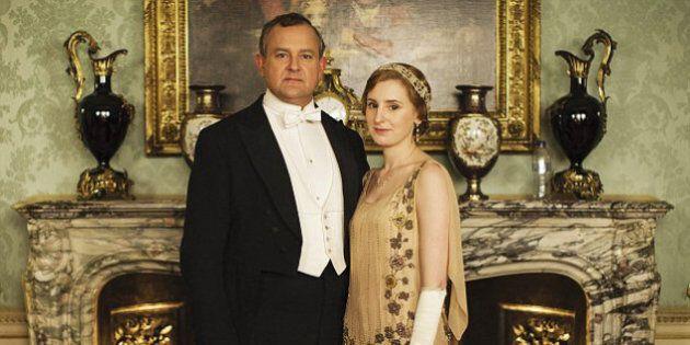 Une photo de la saison 5 de Downton Abbey gâchée par une bouteille d'eau en