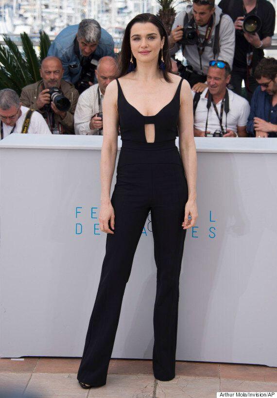 Festival de Cannes 2015: Rachel Weisz toute en noir sur la