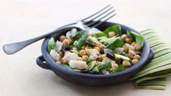 Vite fait, bien fait: salade de pois chiches à la