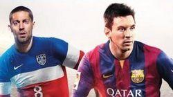 Dempsey et Messi sur la couverture de FIFA 15