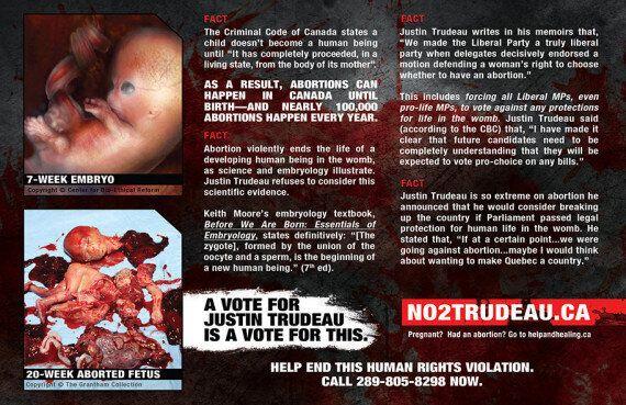 Une publicité anti-avortement cible le chef du parti libéral Justin