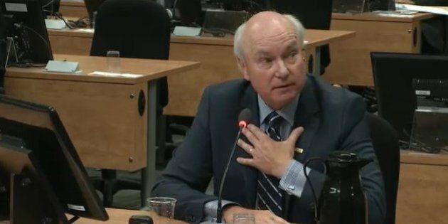 Commission Charbonneau: Marc Bibeau faisait du financement sectoriel pour le PLQ, confirme le président...