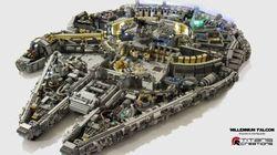 Le Millennium Falcon de Star Wars en 10 000 pièces Lego