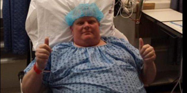 Jour de chirurgie pour l'ancien maire Rob Ford, qui se fait retirer une tumeur de