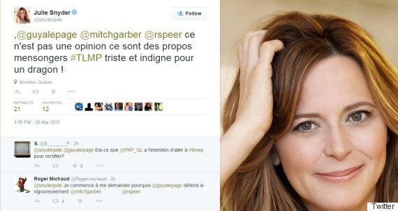 «Tweetfight» entre Guy A.Lepage et Julie
