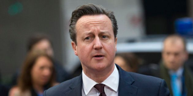 British Prime Minister David Cameron arrives for an EU summit in Brussels on Friday, March 20, 2015....