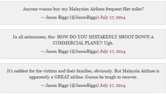 Écrasement MH17: Jason Biggs s'excuse et supprime ses tweets après ses blagues sur la