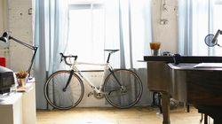 Un vélo dans le salon, la meilleure idée déco du