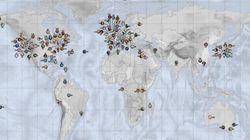 La carte du monde qui recense les dessins