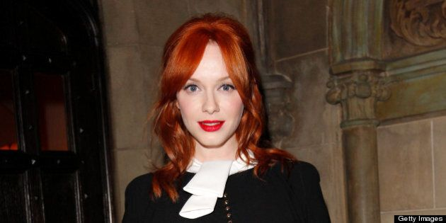 LOS ANGELES, CA - JANUARY 09:  Actress Christina Hendricks attends the Dior Beauty Pre-Golden Globe Dinner at Chateau Marmont on January 9, 2013 in Los Angeles, California.  (Photo by Donato Sardella/WireImage)