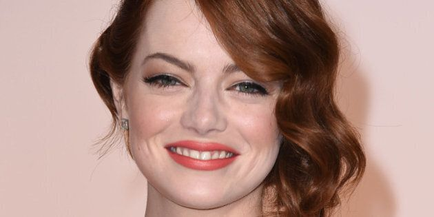 HOLLYWOOD, CA - FEBRUARY 22: Emma Stone arrives at the 87th Annual Academy Awards at Hollywood & Highland...
