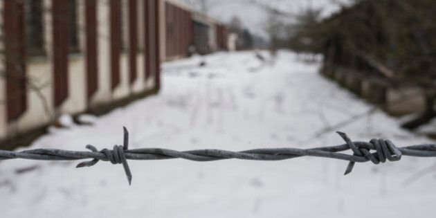 This photo taken on Saturday, March 7, 2015 shows a now abandoned warehouse where over 1,000 Muslim Bosniak...