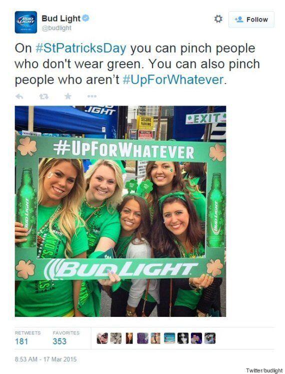 Le tweet de Bud Light pour la St-Patrick a été attaqué à cause de son