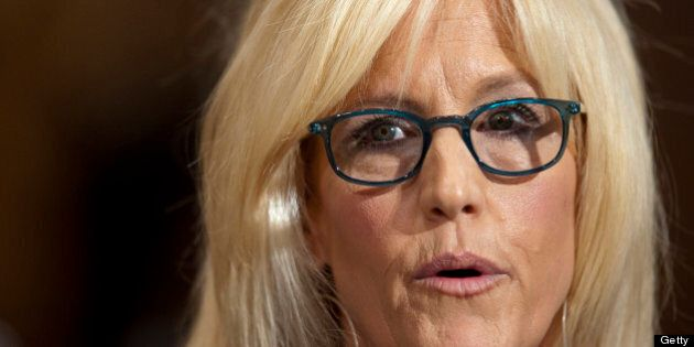 Erin Brockovich, president of Brockovich Research & Consulting, testifies during an Environment and Public...
