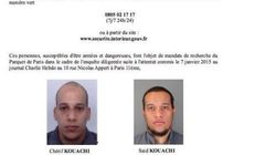 Charlie Hebdo: la police publie un appel à témoins avec les photos des deux frères