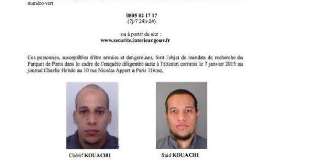 Attentat contre Charlie Hebdo: la police publie un appel à témoins avec les photos des deux frères