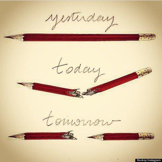 Banksy a-t-il réalisé ce dessin poignant?