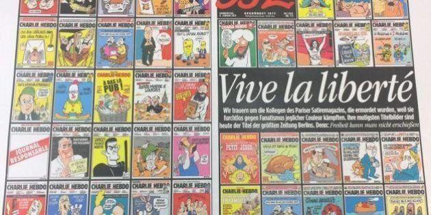 Attentat contre Charlie Hebdo : des Unes en deuil et des hommages dans tous les médias français
