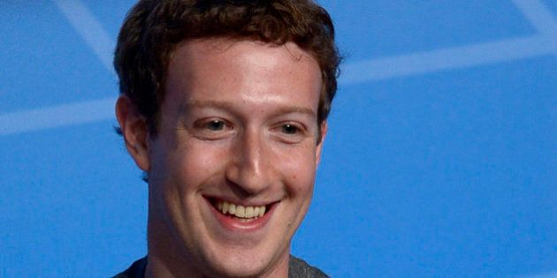 FILE - This Feb. 24, 2014 file photo shows Facebook Chairman and CEO Mark Zuckerberg during a conference...