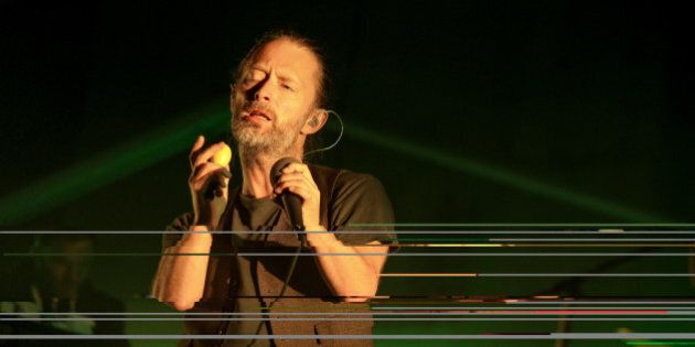 AUSTIN, TX - OCTOBER 06:  Thom Yorke of Atoms For Peace performs onstage during Day 3 of the 2013 Austin City Limits Music Festival at Zilker Park on October 6, 2013 in Austin, Texas.  (Photo by Mike Windle/WireImage)