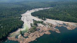 La fuite du déversement minier