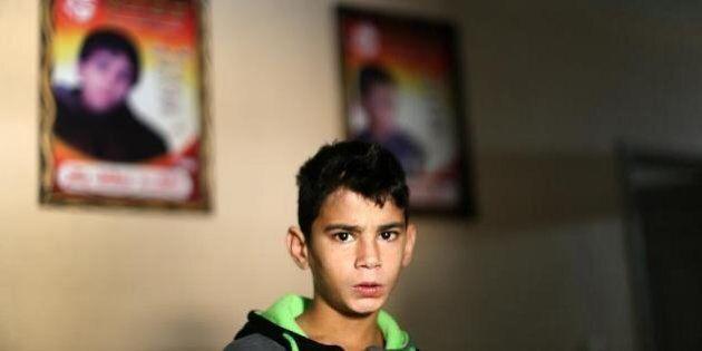 Gaza: Mountasser Bakr, 11 ans, encore traumatisé par la mort d'une partie de sa