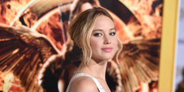 Jennifer Lawrence arrives at the Los Angeles premiere