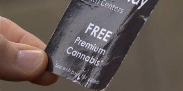 Cannabis gratuit : une publicité fait