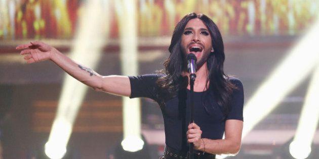 COLOGNE, GERMANY - DECEMBER 07: Conchita Wurst performs onstage during 2014! Menschen, Bilder, Emotionen...