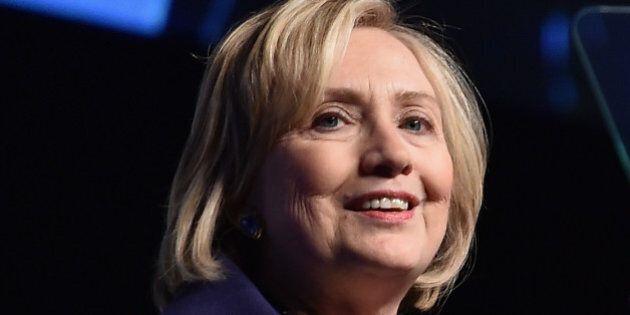 NEW YORK, NY - DECEMBER 16: Honoree Hillary Rodham Clinton speaks onstage at the RFK Ripple Of Hope Gala...