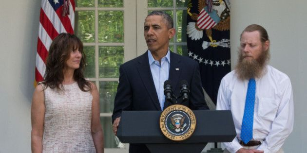 WASHINGTON, DC - MAY 31: President Barack Obama makes a statement about the release of Sgt. Bowe Bergdahl...