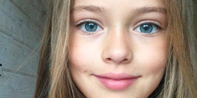 À 9 ans, Kristina Pimenova, «la plus belle petite fille du monde», ignore sa