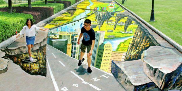 La prochaine plus grande peinture en 3D du monde se trouve en Chine