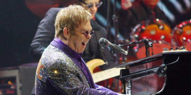 DUBLIN, IRELAND - DECEMBER 09: Elton John performs at the 3Arena on December 9, 2014 in Dublin, Ireland....