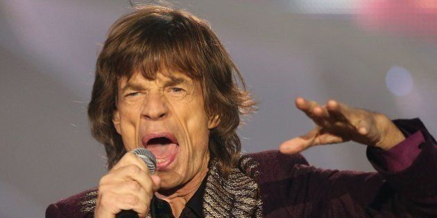 Mick Jagger of the Rolling Stones performs during a concert that is part of the band's '14 on Fire' world...