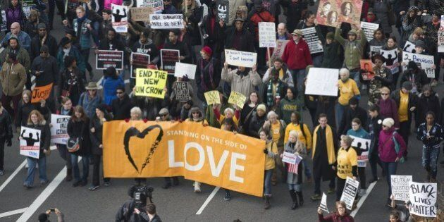 Thousands take part in the Justice for All March and Rally on Pennsylvania Avenue to the US Capitol in...
