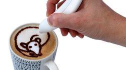 Créer de l'art latte maison grâce au stylo à épices