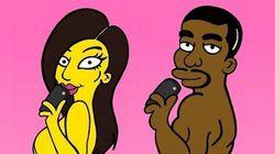 Si Kim et Kanye étaient des Simpson