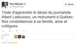 Décès du journaliste sportif Albert Ladouceur: les réactions sur