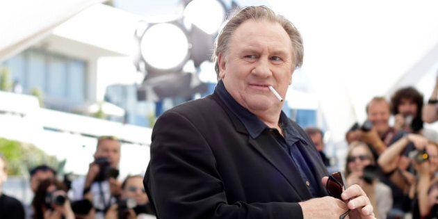 Actor Gerard Depardieu poses for photographers during a photo call for the film Valley of Love, at the...