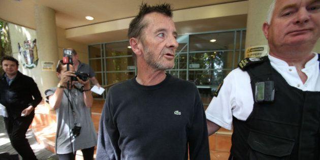 TAURANGA, NEW ZEALAND - DECEMBER 04: AC/DC drummer Phil Rudd leaves Tauranga District Court after being...