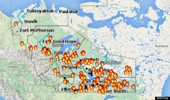 Les Territoires du Nord-Ouest ravagés par des incendies