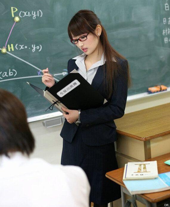 Mana Aoki, star du porno japonaise, se retrouve en couverture d'un manuel scolaire de