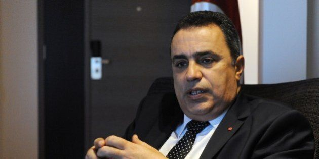 Tunisian Prime Minister Mehdi Jomaa speaks during an interview with AFP at a hotel in Dakar on November...