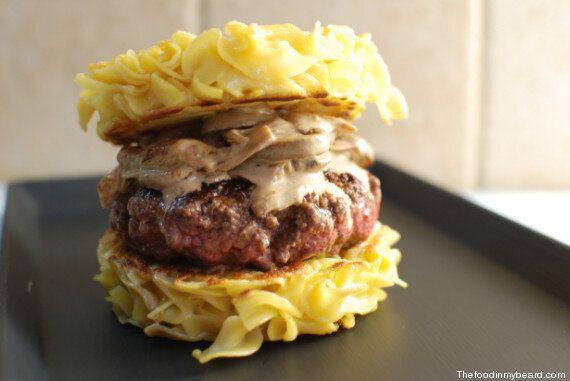 Un burger façon bœuf Stroganoff, ça