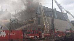 Un incendie touche le Musée de la civilisation de Québec (VIDÉO /