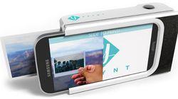 Cet étui pour téléphone intelligent permet d'imprimer une photo instantanément
