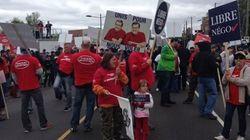 Retraites : manifestation en marge d'un rassemblement
