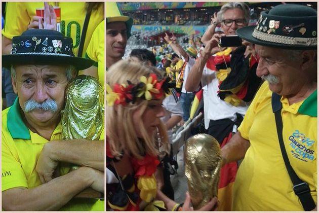 Mondial 2014 : Ce partisan du Brésil prouve que perdre avec élégance peut aussi faire de vous un